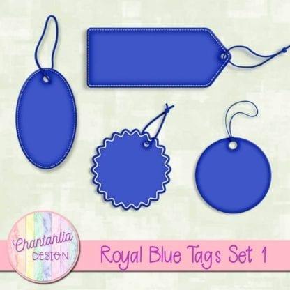 royal blue tags