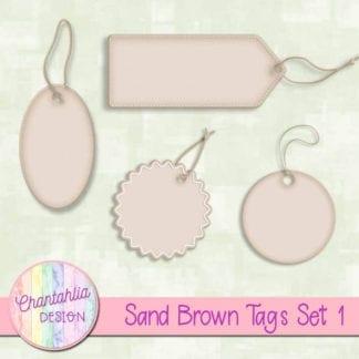 sand brown tags