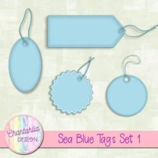 sea blue tags