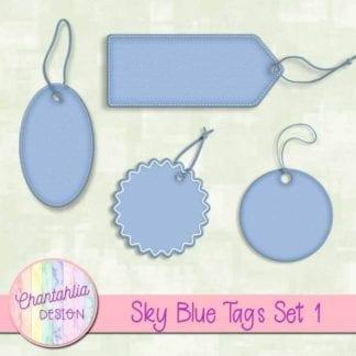 sky blue tags