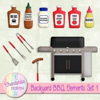 backyard BBQ elements