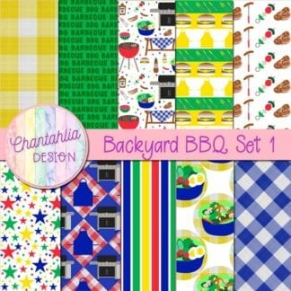 Backyard BBQ Digital Papers