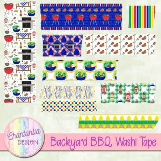 backyard BBQ washi tape