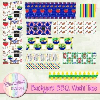 backyard BBQ washi tape
