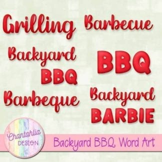 backyard BBQ word art
