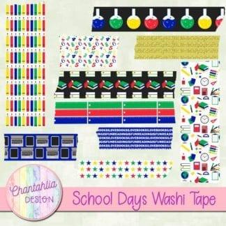 school days washi tape