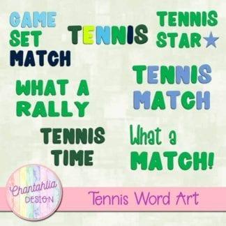 tennis word art