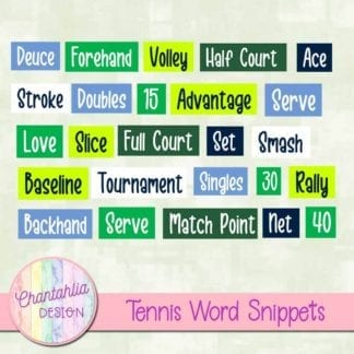 tennis word snippets