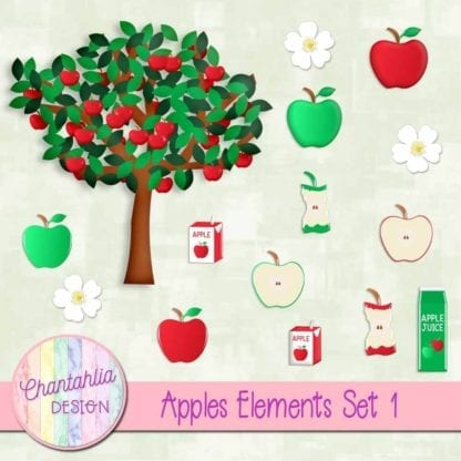 Apples Design Elements Embellishments