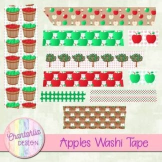 Apples Washi Tape