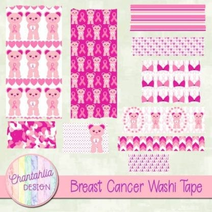 breast cancer washi tape