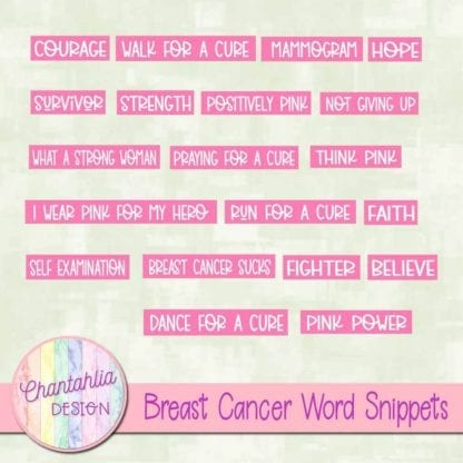 breast cancer word snippets