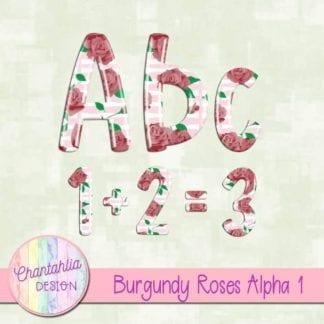 burgundy roses alpha