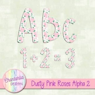 dusty pink roses alpha