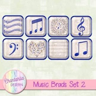 blue music brads
