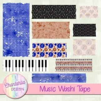 music washi tape