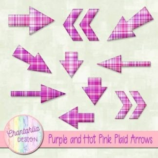 purple and hot pink plaid arrows