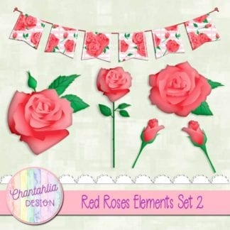 red roses elements
