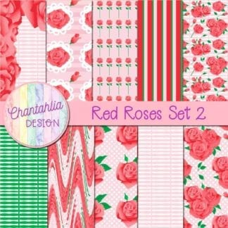 red roses digital papers