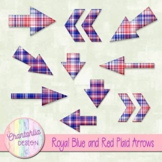 royal blue and red plaid arrows