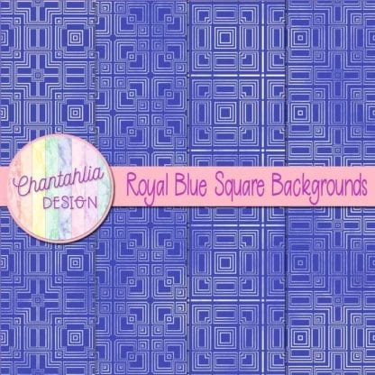 royal blue square backgrounds