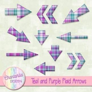 teal and purple plaid arrows