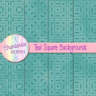 teal square backgrounds