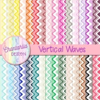 vertical waves digital papers