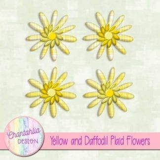 yellow and daffodil plaid flowers