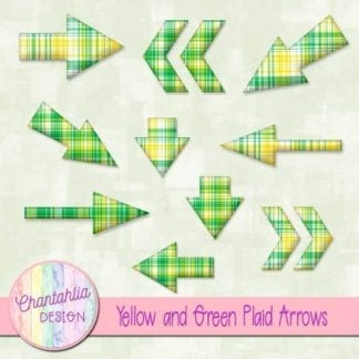 yellow and green plaid arrows