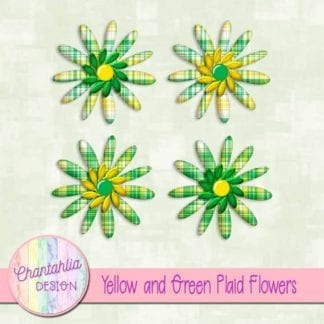 yellow and green plaid flowers
