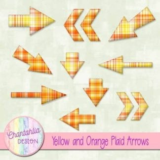 yellow and orange plaid arrows