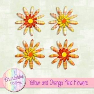 yellow and orange plaid flowers