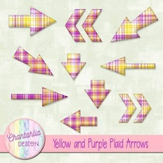 yellow and purple plaid arrows