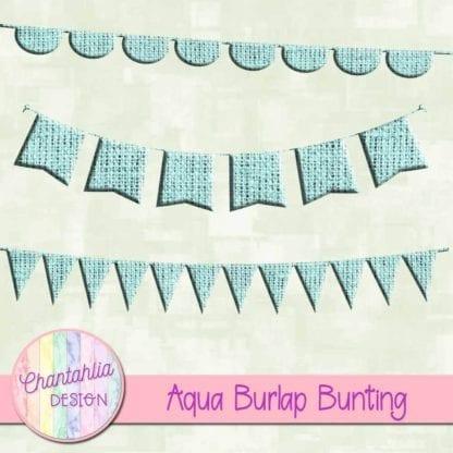 free aqua burlap bunting