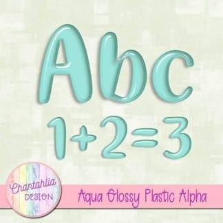 free aqua glossy plastic alpha