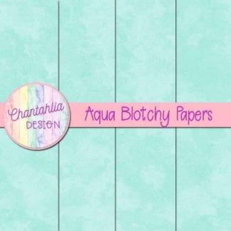 free aqua blotchy digital papers