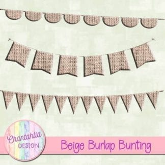 free beige burlap buntin