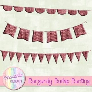free burgundy burlap bunting