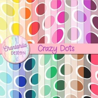free crazy dots digital papers