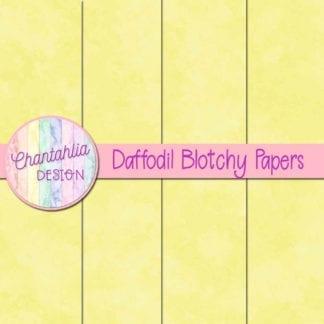 free daffodil blotchy digital papers