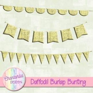 free daffodil burlap bunting