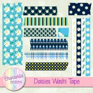 free daisies scrapbook washi tape