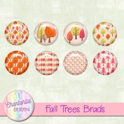 free digital brads featuring fall trees