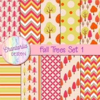 free digital papers featuring fall trees
