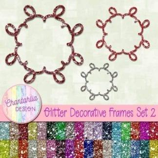 free glitter decorative frames