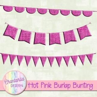free hot pink burlap bunting