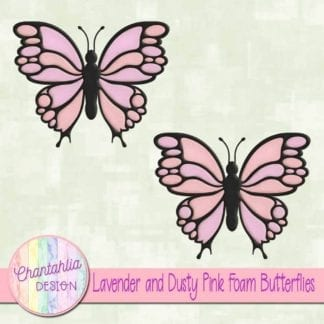free lavender and dusty pink foam butterflies
