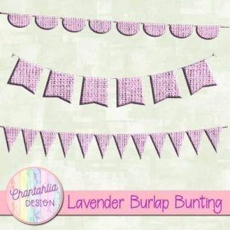 free lavender burlap bunting