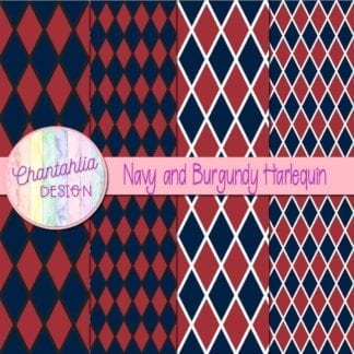 free navy and burgundy harlequin digital papers